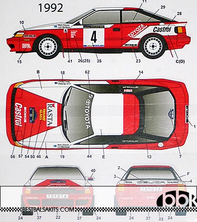 STUDIO 27 1/24 CELICA GT FOUR ST165 CASTROL SWEDEN RALLY 89 - 92