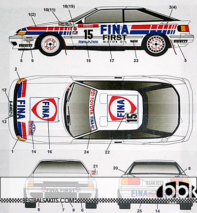 STUDIO 27 1/24 CELICA GT FOUR ST165 FINA FRANCE RALLY 91 DUEZ