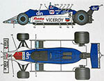 STUDIO 27 1/20 WILLIAMS FW07 #8 E. SALAZAR BATA VICEROY AFX 1980