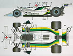 STUDIO 27 1/20 WILLIAMS FW07 #7 GB F1 SERIES '80 DE VILOTTA
