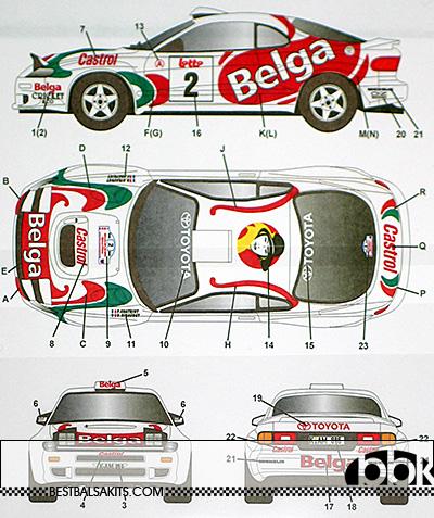 STUDIO 27 1/24 CELICA GT FOUR ST185 #2 BELGA BOUCLES SPA 1994