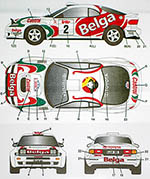 STUDIO 27 1/24 CELICA GT FOUR ST185 #2 BELGA BOUCLES SPA 1994