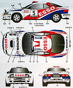 STUDIO 27 1/24 CELICA GT FOUR ST185 #1 #5 ESSO CIOCCO RALLY 1994