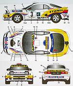 STUDIO 27 1/24 CELICA GT FOUR ST185 #3 STOMIL CORTE INGLES 1996