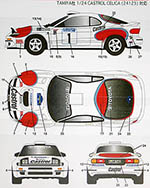 STUDIO 27 1/24 CELICA GT FOUR ST185 1993 SWEDEN RALLY DECAL