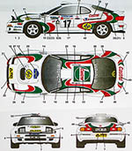 STUDIO 27 1/24 CELICA GT FOUR ST185 #17 1995 SWEDEN RALLY CASTROL
