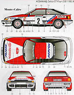 STUDIO 27 1/24 CELICA GT FOUR ST165 91 MONTE CARLO/PORTUGAL/CORSE