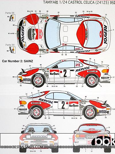 STUDIO 27 1/24 CELICA GT FOUR ST185 1992 MONTE CARLO #2 #6 #10