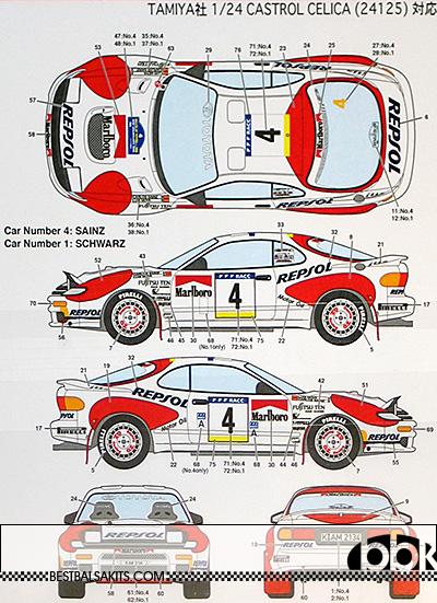 STUDIO 27 1/24 CELICA GT FOUR ST185 1992 CATALUNYA RAC #4 #1 #7