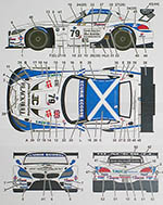 STUDIO 27 1/24 BMW Z4 ECOSSE #79 ELMS 2013 DECAL