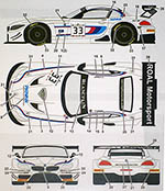 STUDIO 27 1/24 BMW M POWER Z4 ALEX ZANARDI #33 2014 DECAL FUJIMI