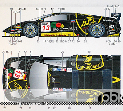 STUDIO 27 1/24 LAMBORGHINI MURCIELAGO #13 FIA GT1 B-RACING