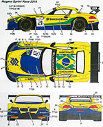STUDIO 27 1/24 BMW Z4 TEAM BRAZIL #0 #21 #30 2014