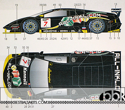 STUDIO 27 1/24 LAMBORGHINI MURCIELAGO #7 ALL-INKL.COM 2007