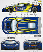 STUDIO 27 1/24 McLAREN MP4-12C GT3 K-PAX #9 LONG BEACH 2014 DECAL