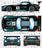 STUDIO 27 1/24 MERCEDES SLS GT3 BLACK FALCON #19 MONZA 2014