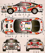 STUDIO 27 1/24 TOYOTA CELICA ST185 CX OIL # EURO RALLY 1995