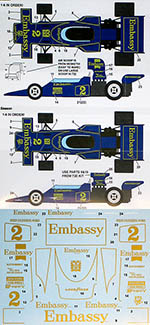 STUDIO 27 1/20 LOTUS 72D EMBASSY CHAMPIONSHIP SA 1975 for EBBRO 7