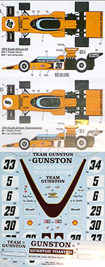 STUDIO 27 1/20 LOTUS 72D TEAM GUNSTON 74-75 SCHECKTER EBBRO 72E
