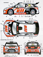 STUDIO 27 1/24 CITROEN DS3 EIL #210 SANREMO RALLY 2014 for HELLER