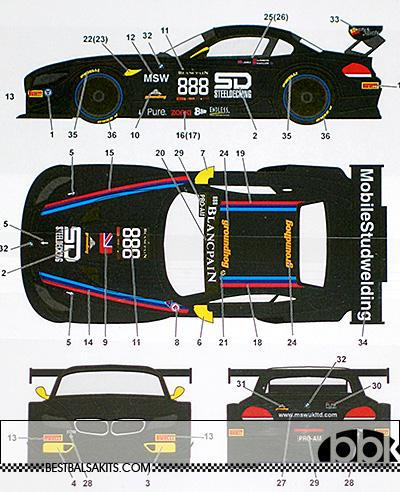 STUDIO 27 1/24 BMW Z4 888 #888 SILVERSTONE BSS 2014 for FUJIMI