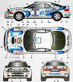 STUDIO 27 1/24 TOYOTA CELICA ST185 HARVILLA #8 BARUM RALLY 1996