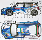 STUDIO 27 1/24 SKODA S2000 #211 RALLY SAN REMO 2014 for BELKITS