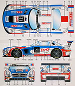 STUDIO 27 1/24 MERCEDES SLS RUSSIAN TEAM #71 2015 MONZA