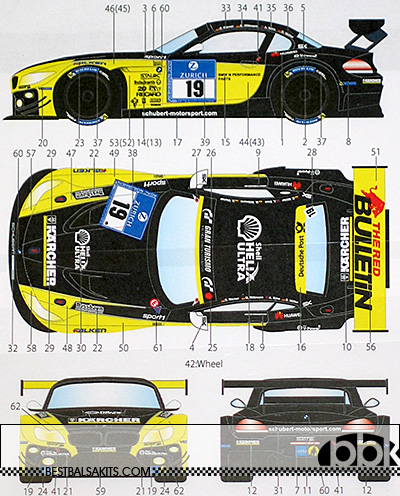 STUDIO 27 1/24 BMW Z4 GT3 SCHUBERT MOTORSPORT NÛRNBURGRING 2015
