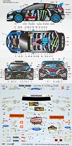 STUDIO 27 1/24 FORD FIESTA WRC #43 MONZA RALLY BLOCK GELSOMINO