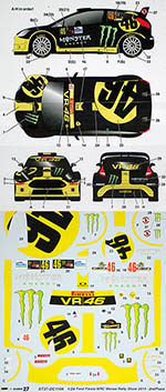 STUDIO 27 1/24 FORD FIESTA WRC #46 MONZA RALLY ROSSI CASSINA