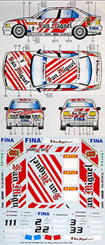 STUDIO 27 1/24 BMW 318i SAN MIGUEL MACAU GUIA RACE 1994 HASEGAWA