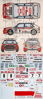 STUDIO 27 1/24 LANCIA SUPER DELTA A.R.T. SANREMO TOUR DE CORSE 92