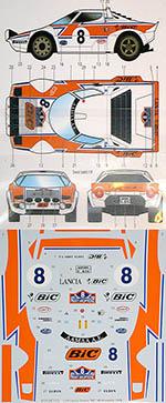 STUDIO 27 1/24 LANCIA STRATOS BIC ACROPOLIS #8 1978 for HASEGAWA