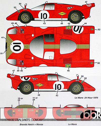 STUDIO 27 1/24 FERRARI 512S GELO RACING TEAM #4 #6 #10 1970