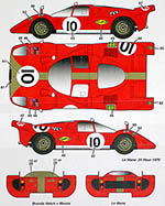 STUDIO 27 1/24 FERRARI 512S GELO RACING TEAM #4 #6 #10 1970