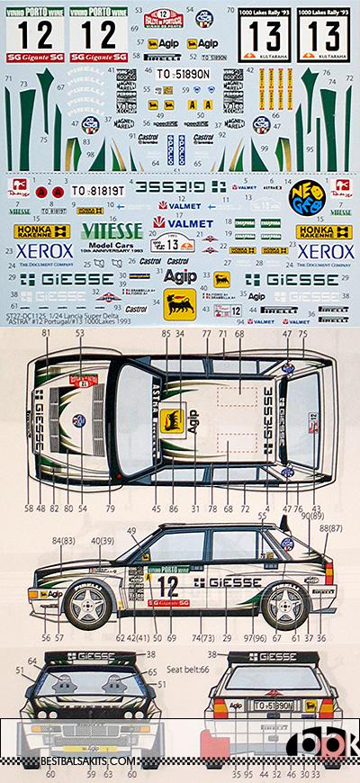 STUDIO 27 1/24 LANCIA SUPER DELTA ASTRA 1993 1000 LAKES PORTUGAL