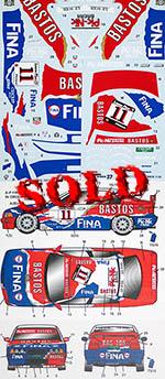 STUDIO 27 1/24 BMW 318i BASTOS FINA BELGIAN PROCAR 1996