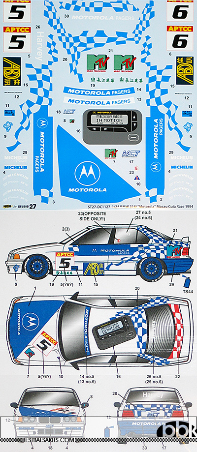 STUDIO 27 1/24 BMW 318i MOTOROLA MACUA GUIA 1994