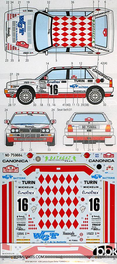 STUDIO 27 1/24 SUPER DELTA CANONICA #16 MONTE-CARLO (1993)