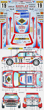 STUDIO 27 1/24 SUPER DELTA VALVOLINE MONTE-CARLO (1996) DECAL