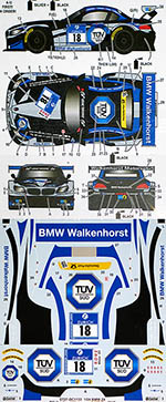 STUDIO 27 1/24 BMW Z4 WALKENHORST MOTORSPORT #18 NURNBURGRING '15