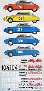 STUDIO 27 1/24 CITROEN DS19 MONTE CARLO 1962 1963 1965