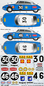 STUDIO 27 1/24 CITROEN DS19 SAFARI RALLY 1965 #30 #46 for EBBRO