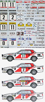 STUDIO 27 1/24 TOYOTA CELICA TA64 1984 RALLIES FILL IN