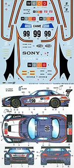 STUDIO 27 1/24 MERCEDES SLS SPORT&YOU SONY WEDO #99 ITALIAN GT 15