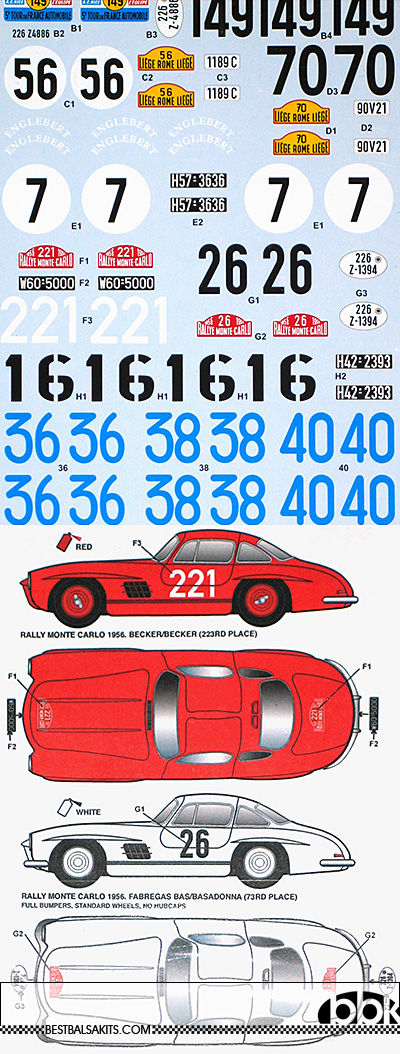 STUDIO 27 1/24 MERCEDES 300SL 1955-1956 RACE & RALLY ASSORT
