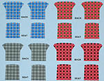 STUDIO 27 1/24 MERCEDES 300SL TARTAN SEAT UPHOLSTERY DECAL ASSORT