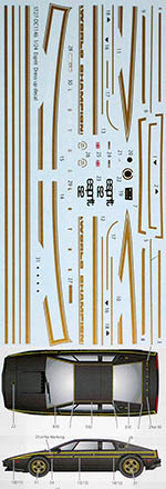STUDIO 27 1/24 LOTUS ESPRIT S1 DRESS UP DECAL for FUJIMI