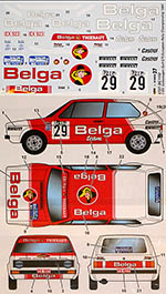 STUDIO 27 1/24 VOLKSWAGEN GOLF GTi Belga #29 EUROPEAN RALLY CHAMP